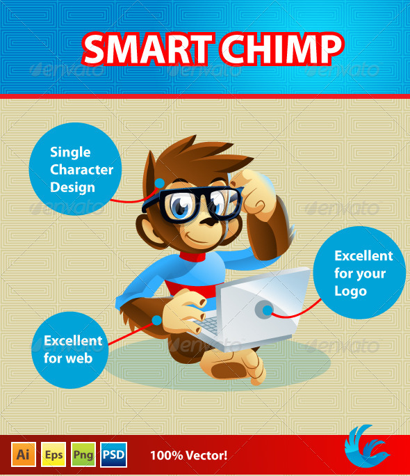 GraphicRiver Chimp Mascote Character 4463384