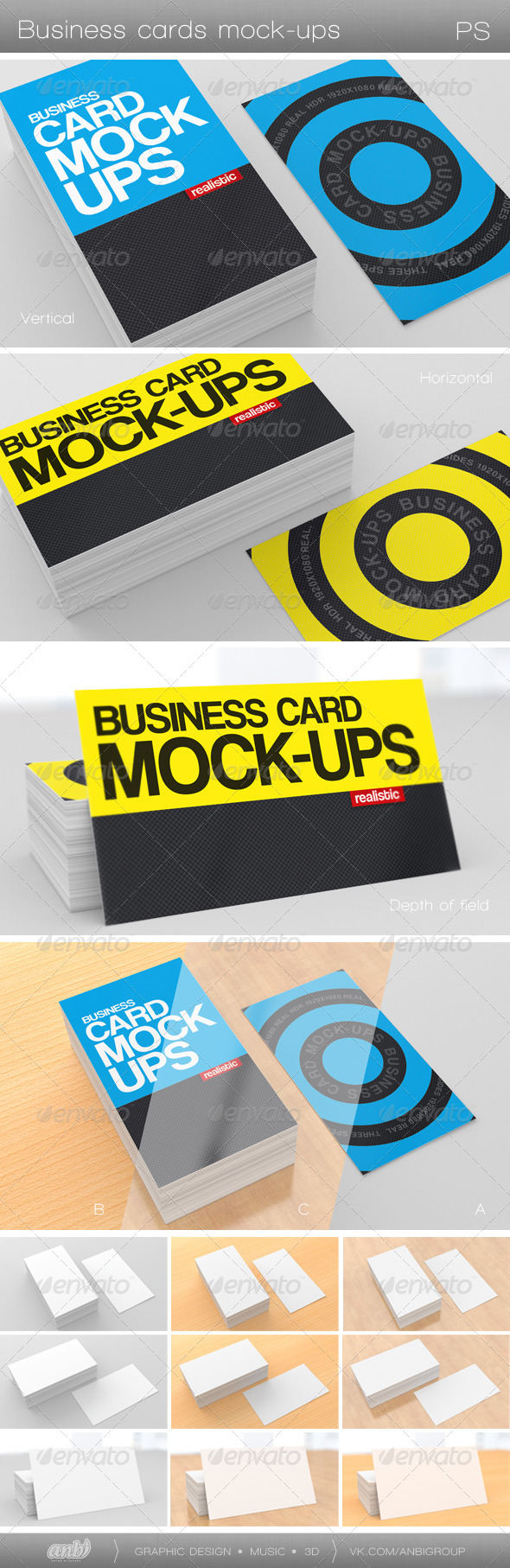 GraphicRiver Business Card Mock-Ups 4465419