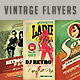 Vintage & Retro Flyers Bundle - GraphicRiver Item for Sale