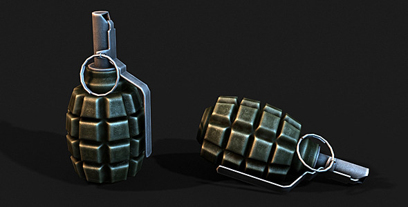 3DOcean Low Poly F1 Grenade 4465811
