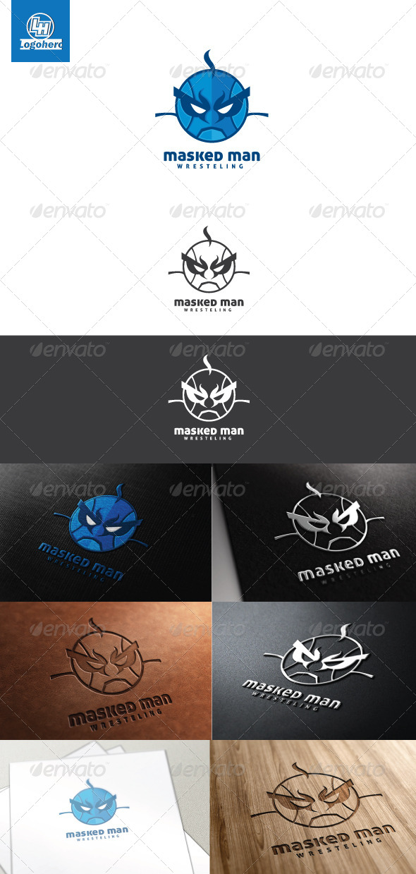 GraphicRiver Masked Man Logo Template 4465977