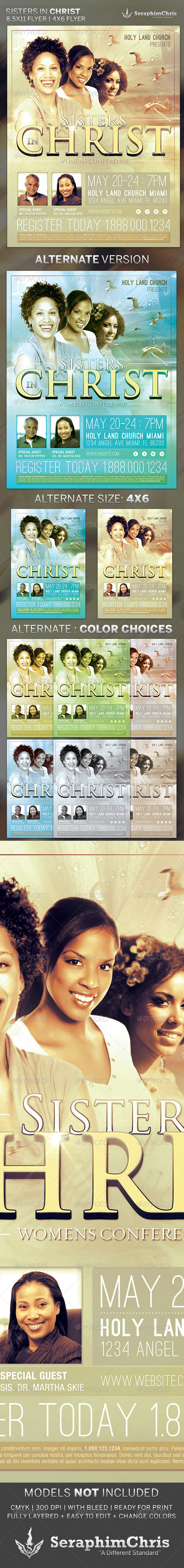 GraphicRiver Sisters in Christ Church Flyer Template 4372534