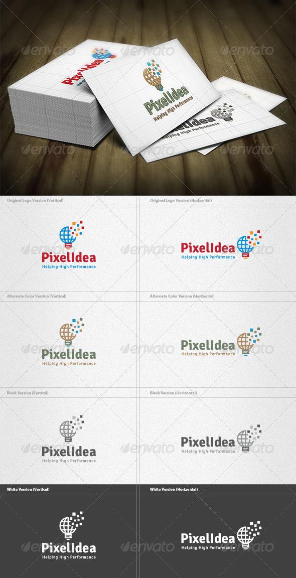 GraphicRiver Pixel Idea Logo 4467417