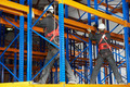 two warehouse workers installing rack arrangement - PhotoDune Item for Sale