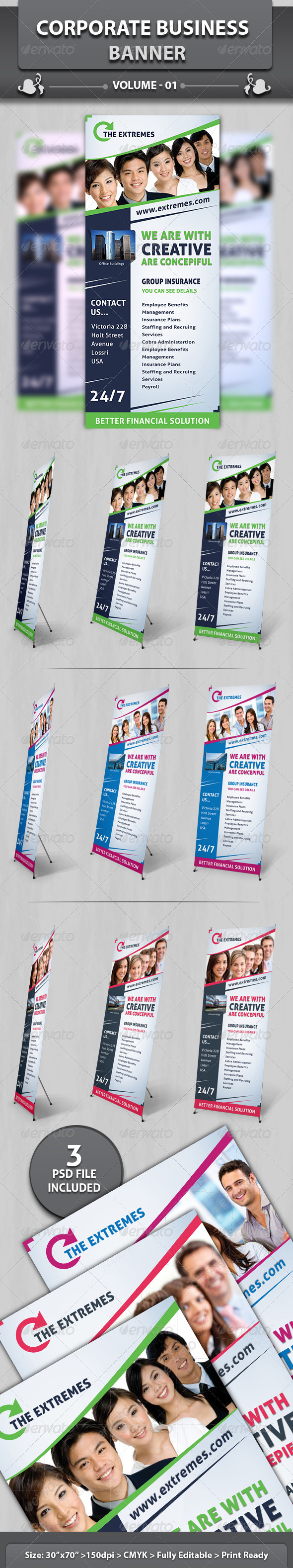 Corporate Business Banner v1 - Signage Print Templates
