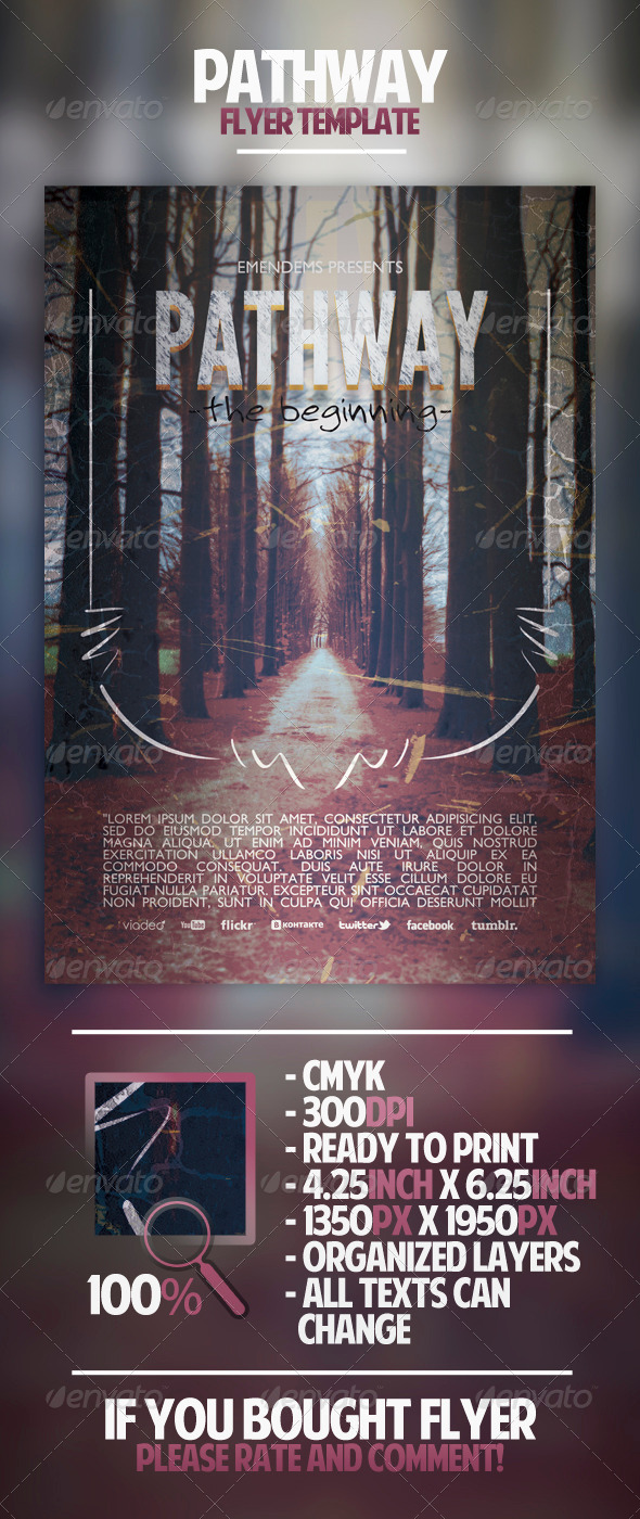 GraphicRiver Pathway Flyer Template 4374925