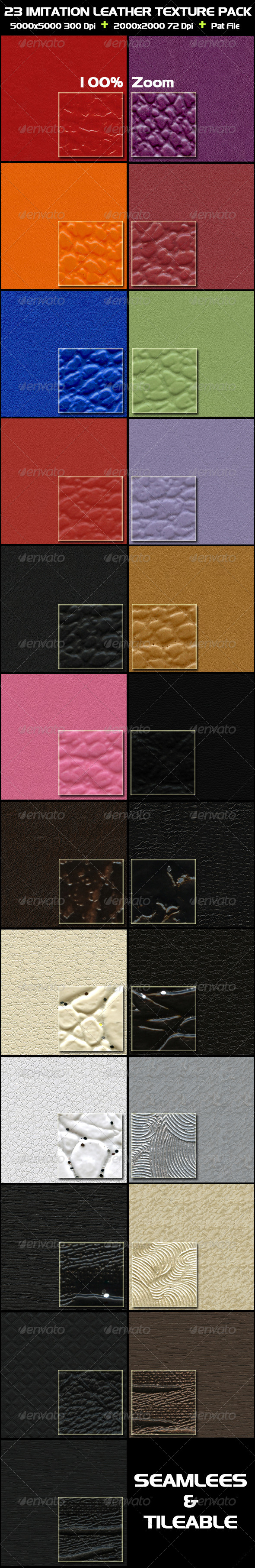 GraphicRiver 23 Imitation Leather Texture Pack 4468821