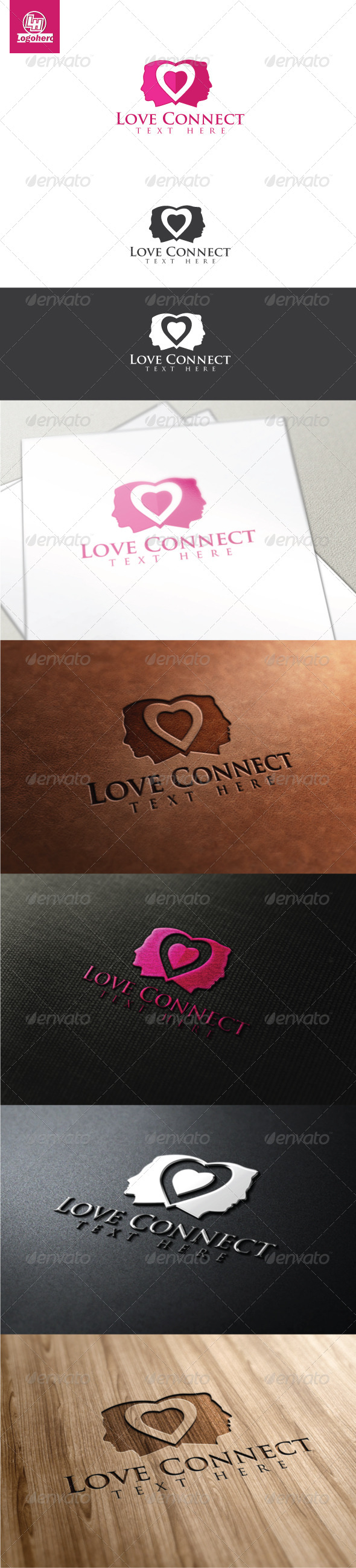 GraphicRiver Love Connect Logo Template 4470135