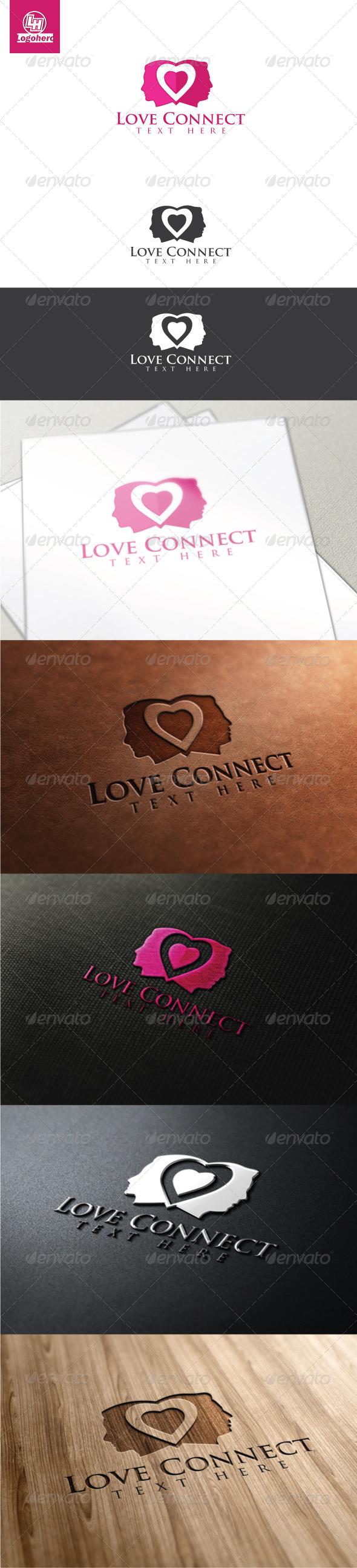 GraphicRiver Love Connect Logo Template 4470135