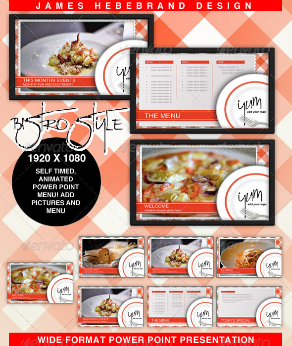 GraphicRiver Bistro Style Powerpoint 4304409