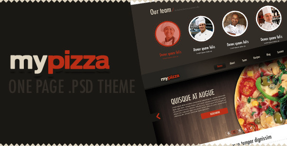 My Pizza (psd) - Creative PSD Templates