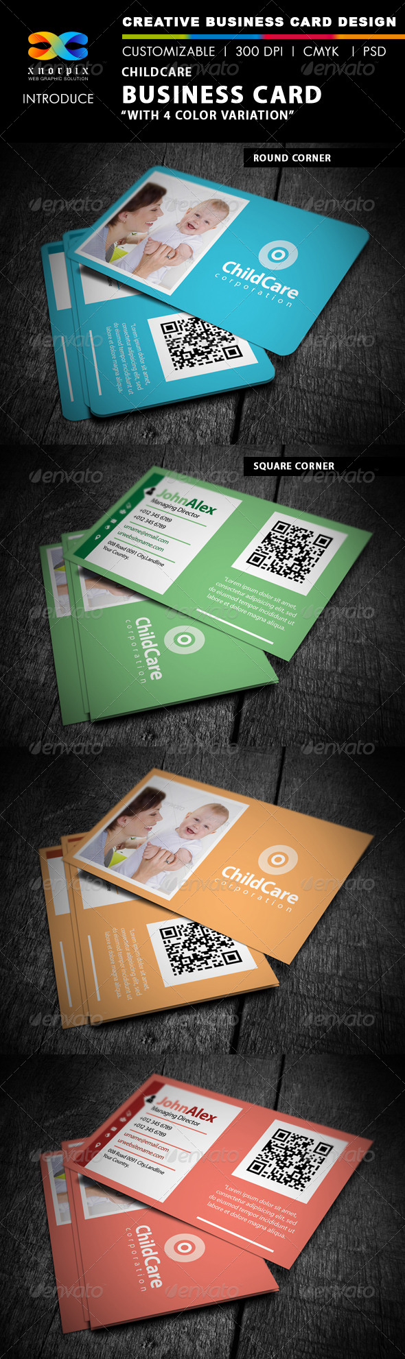 GraphicRiver Childcare Business Card 4472962