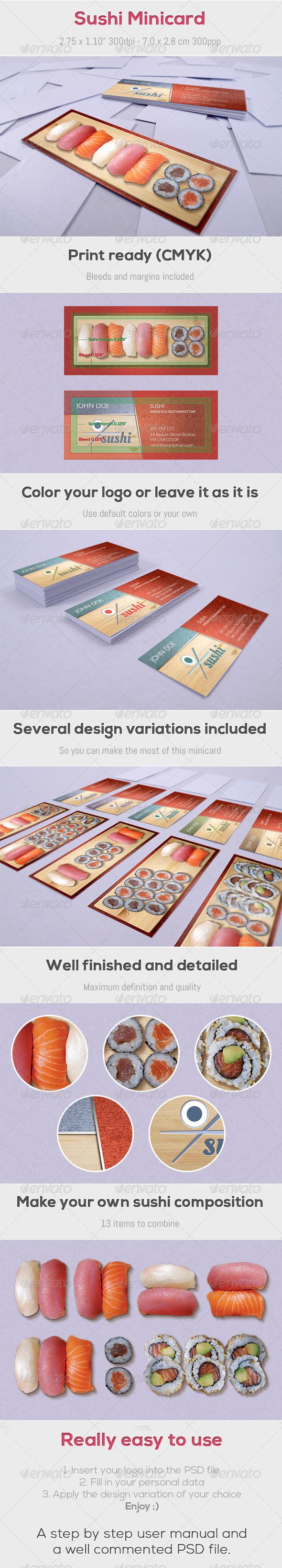 GraphicRiver Sushi Minicard 4373060