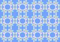 Gentle Flowers on the Blue Background - PhotoDune Item for Sale