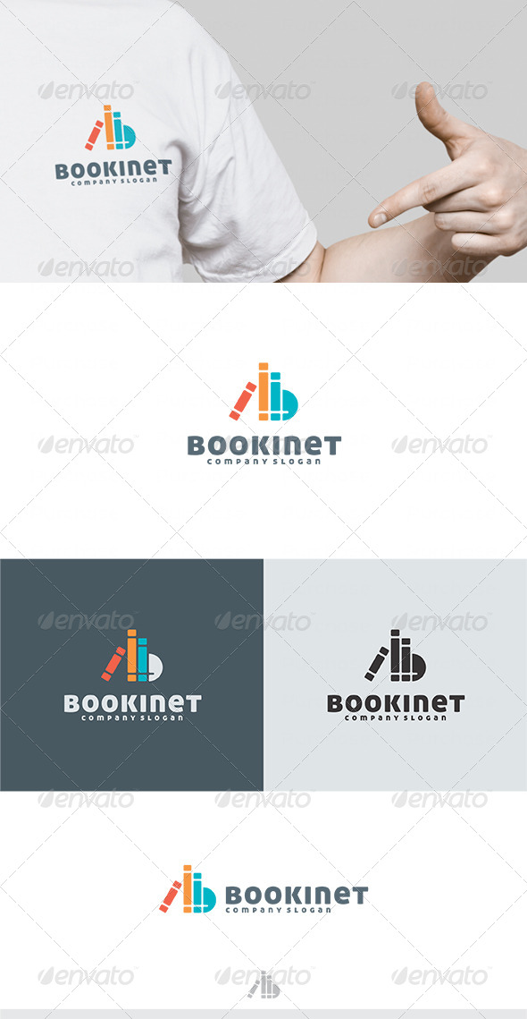 Book Inet Logo - Vector Abstract
