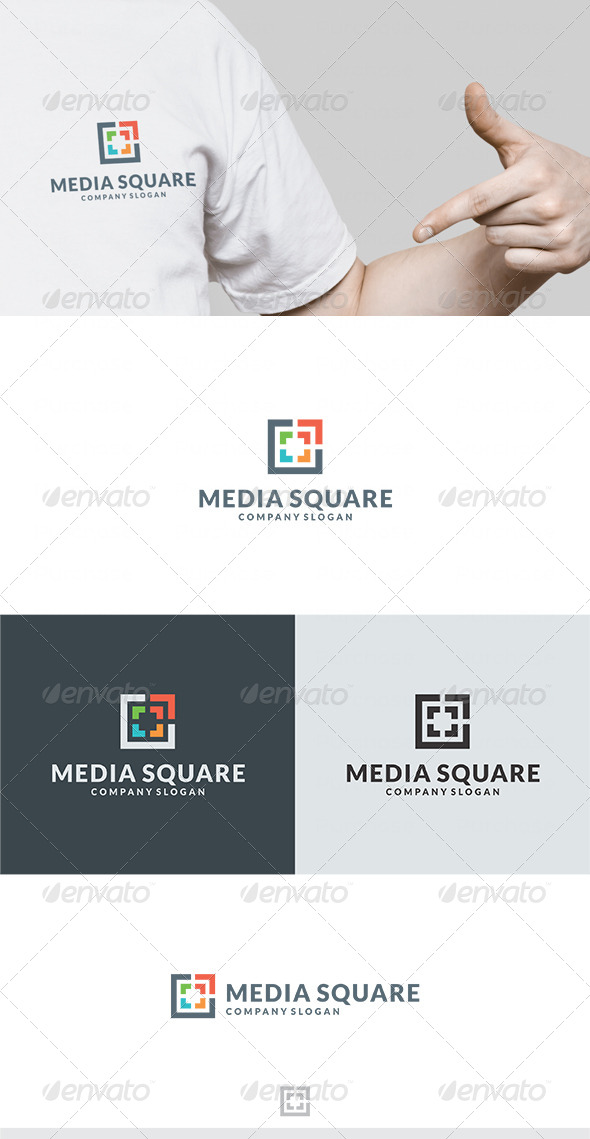Media Square Logo - Vector Abstract