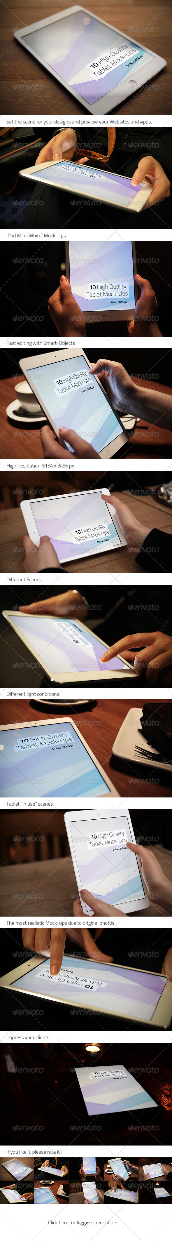 GraphicRiver 10 High Quality Tablet Mock-Ups 4476731