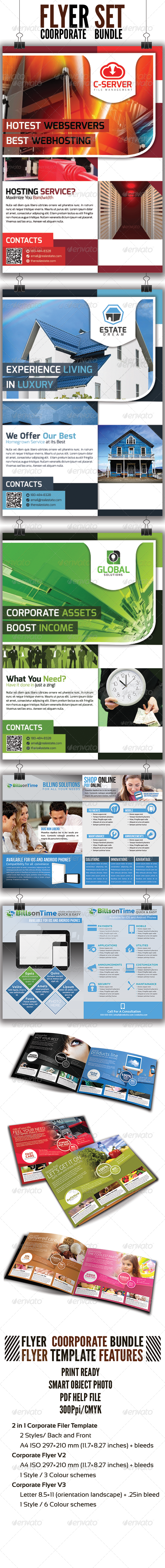 GraphicRiver Corporate Flyer Bundle Set 1 4476857