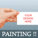 Realistic Painting Business Card Mockup - GraphicRiver Item for Sale