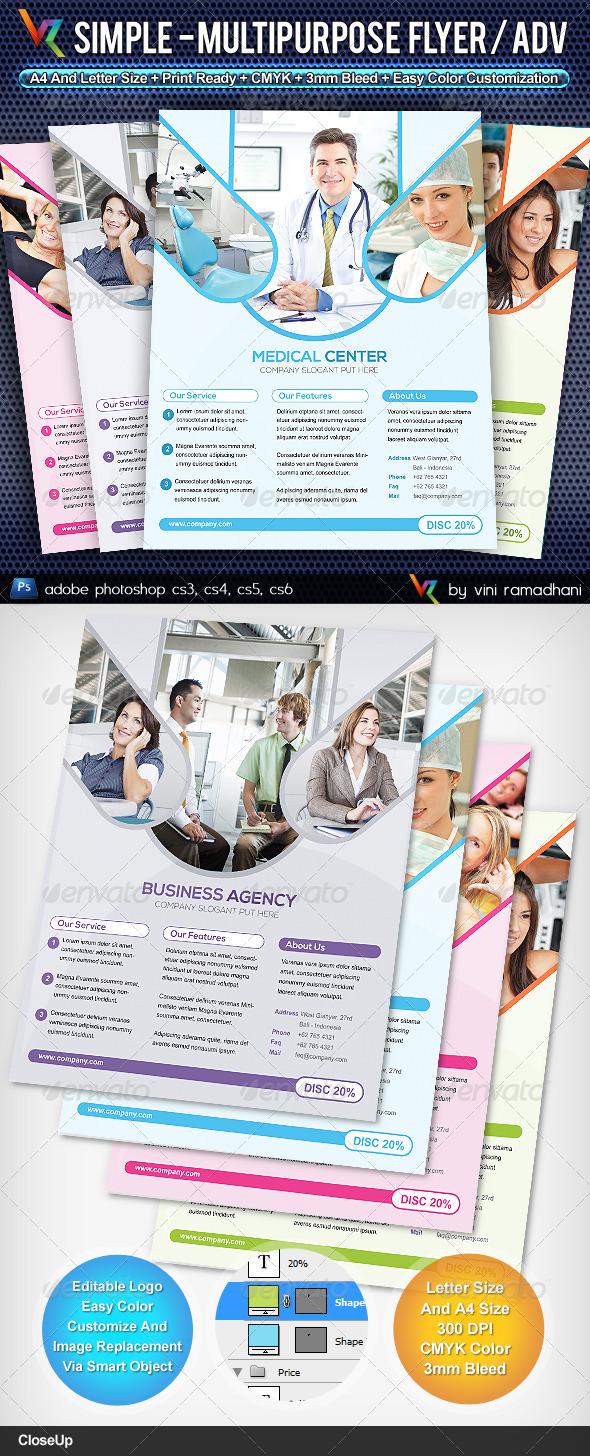 GraphicRiver Simple Multipurpose Flyer Or Adv 4477402