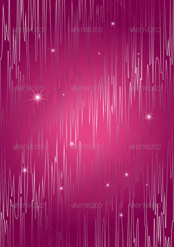 Sparkling Abstract Curves on Purple Background - Stock Photo - Images