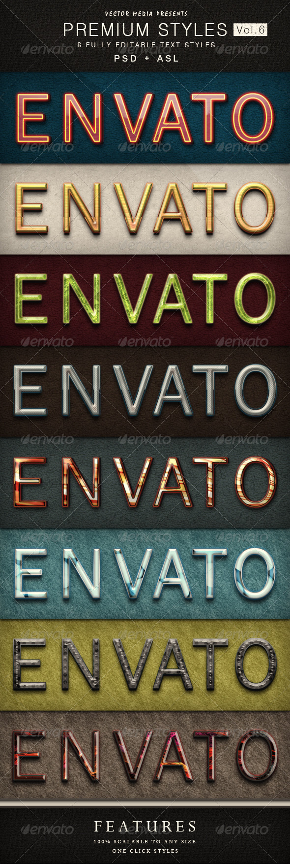 Premium Text Styles - Vol.6 - Text Effects Styles