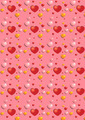 Gentle  Red Hearts on the Pink Background   - PhotoDune Item for Sale