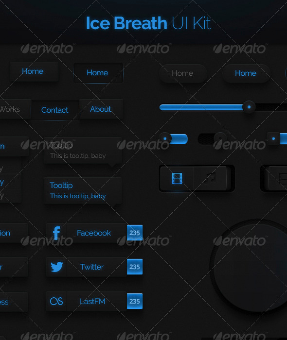 GraphicRiver Ice Breath UI Kit 4436357