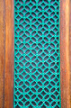 green painted metal grate on city door - PhotoDune Item for Sale