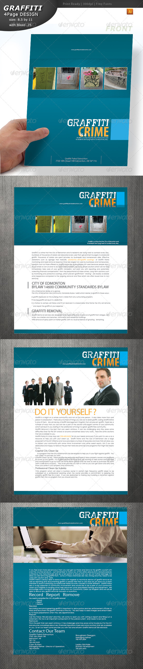 GraphicRiver Graffiti Brochure 4480012