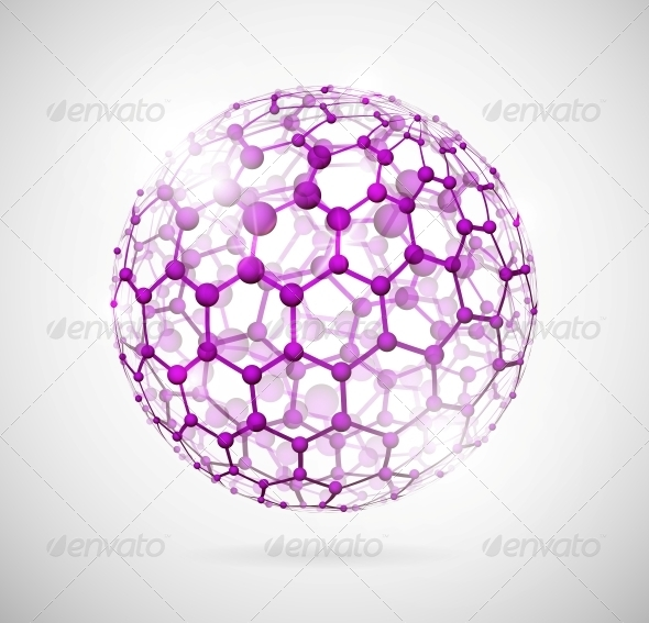 GraphicRiver Molecular Sphere 4480689