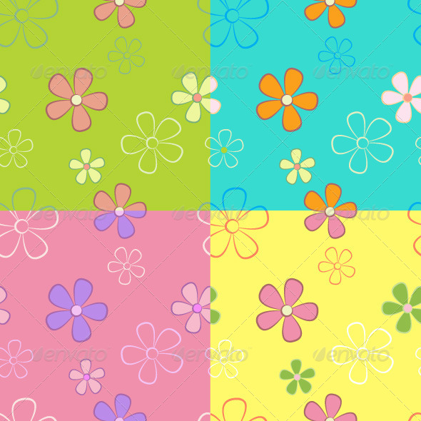 GraphicRiver Flower Seamless Pattern 4481425
