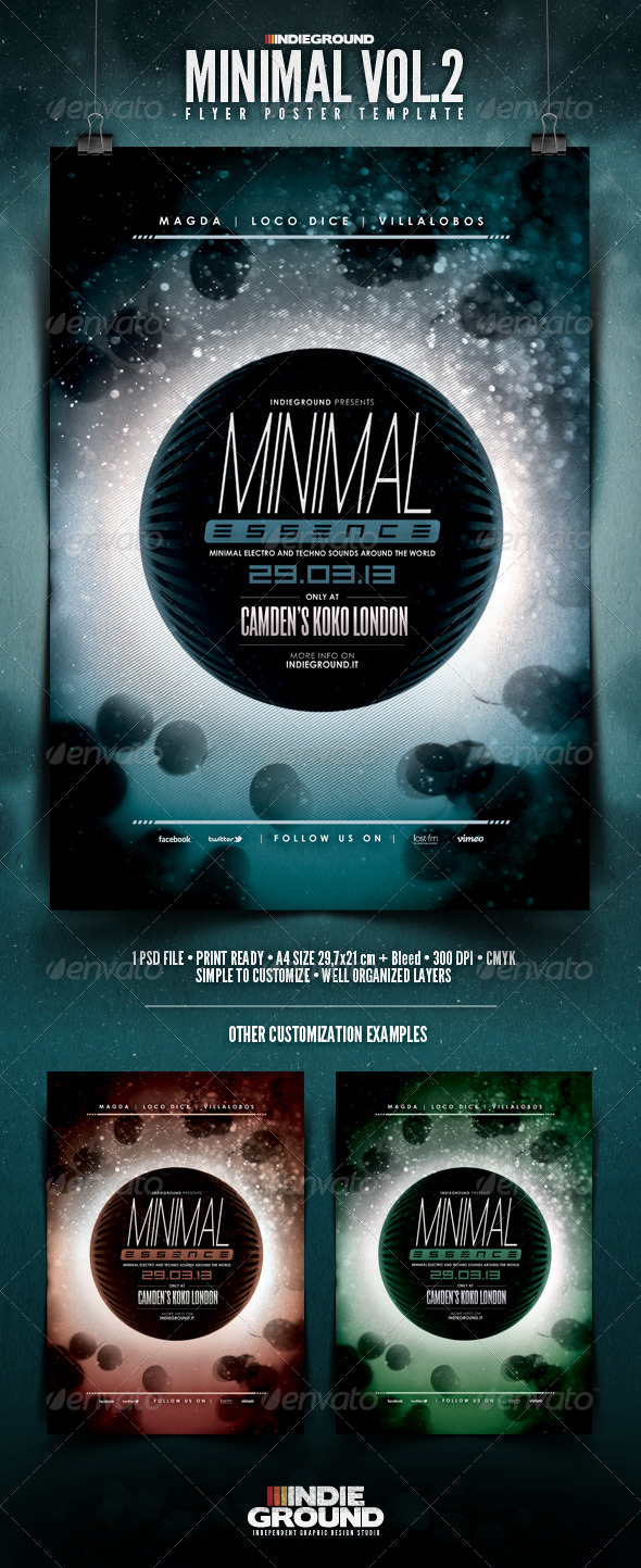 Minimal Flyer/Poster Vol. 2 - Events Flyers