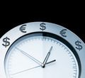 Currency clocks isolated on black - PhotoDune Item for Sale