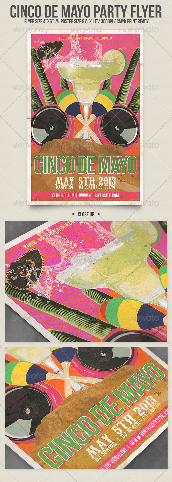 GraphicRiver Cinco de Mayo Party Flyer Poster 4374136