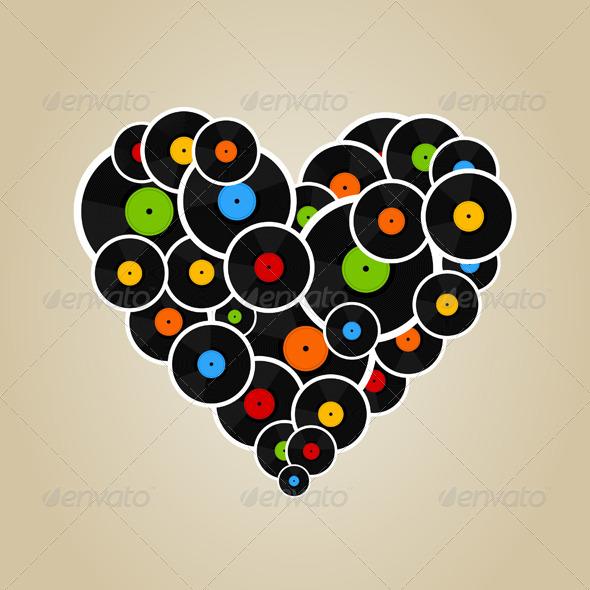 GraphicRiver Vinyl Heart 4481770
