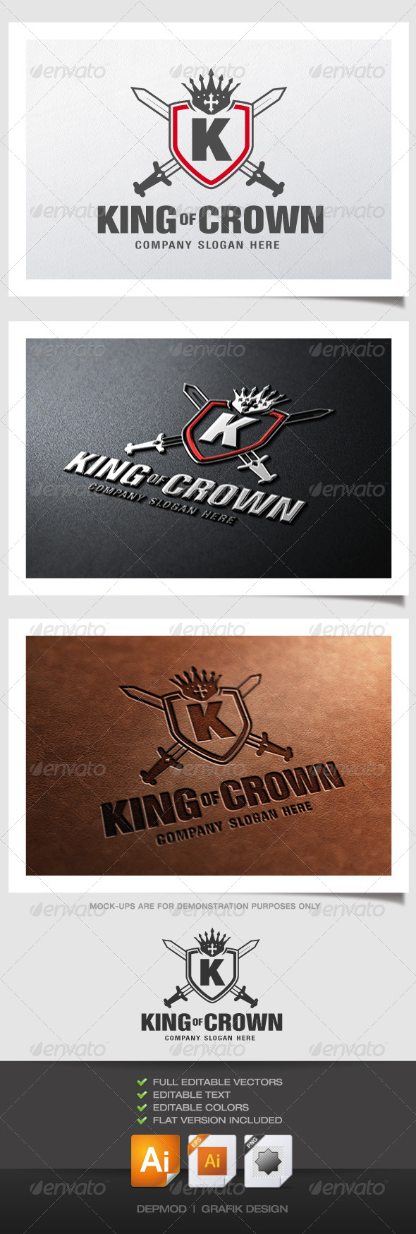 King Of Crown Logo - Crests Logo Templates