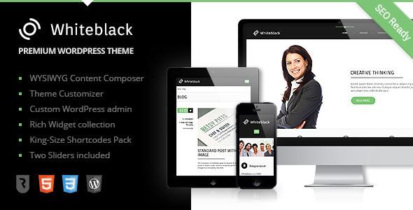 ThemeForest WhiteBlack Premium Business WordPress Theme 4482306