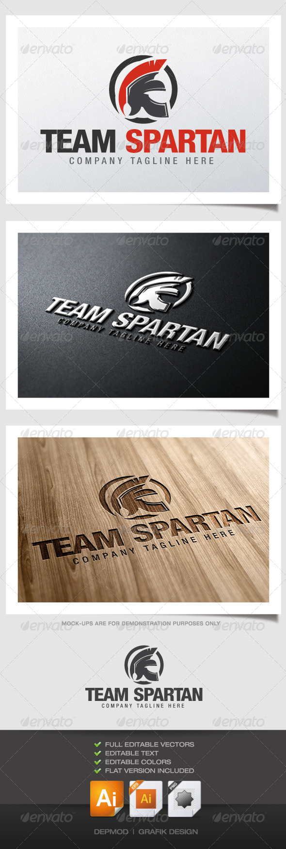 Team Spartan Logo - Objects Logo Templates