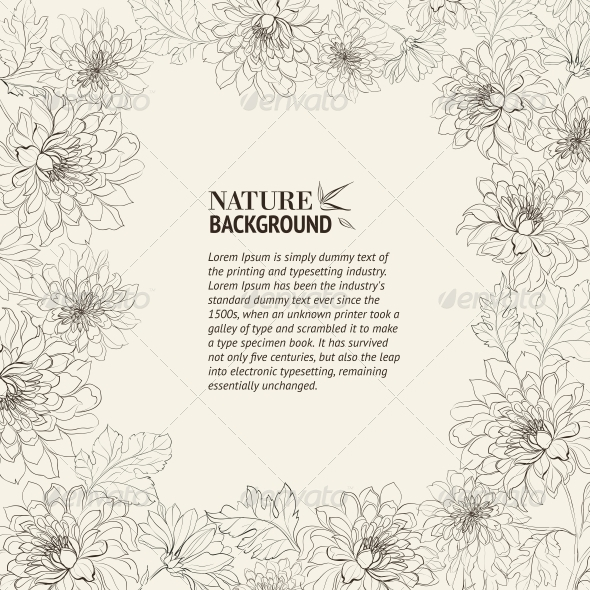 GraphicRiver Frame of Chrysanthemum 4483613