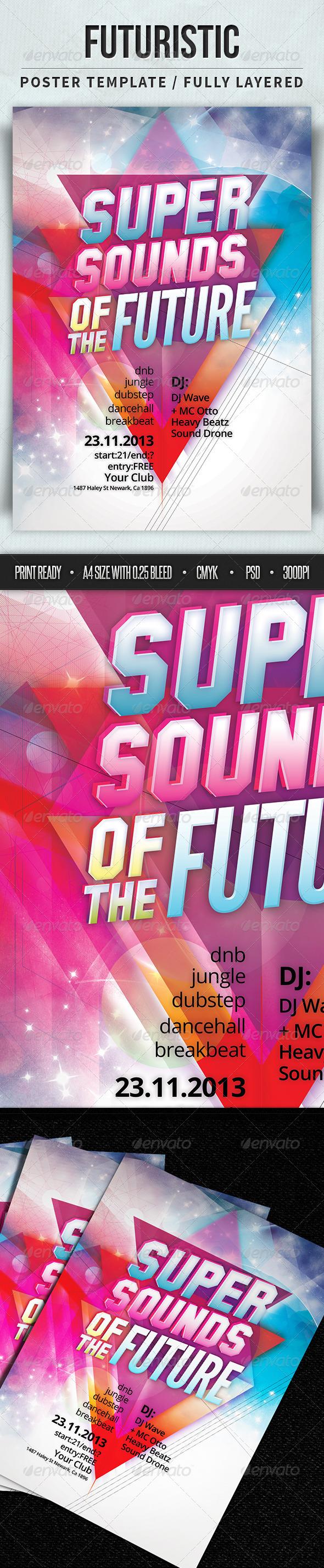 GraphicRiver Futuristic Poster Template 4394507
