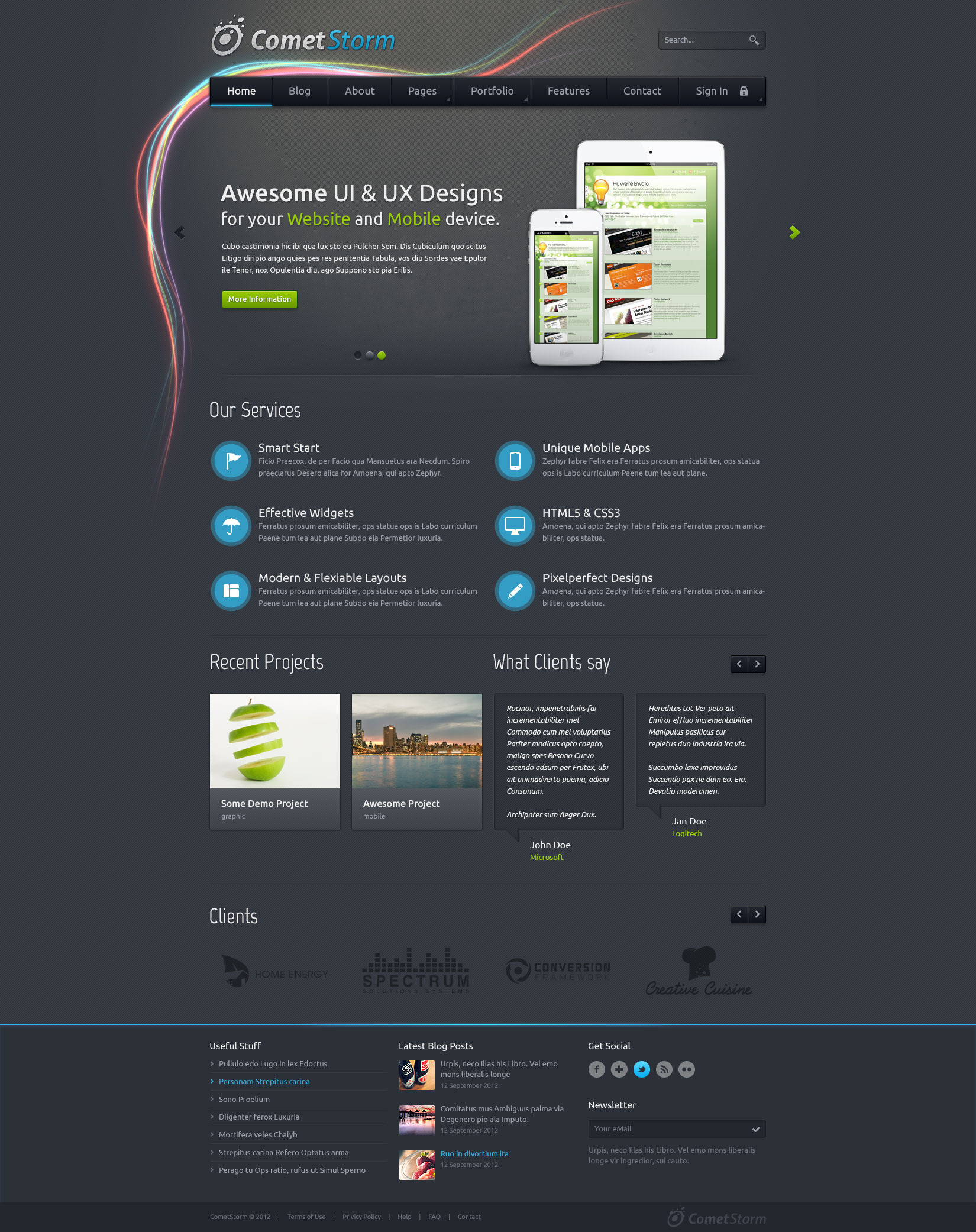 CometStorm - Multi Purpose PSD Template