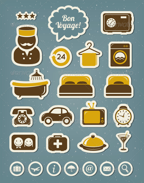 GraphicRiver Hotel Icons 4486066