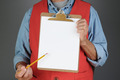 Store Worker Pointing to Clip Board - PhotoDune Item for Sale