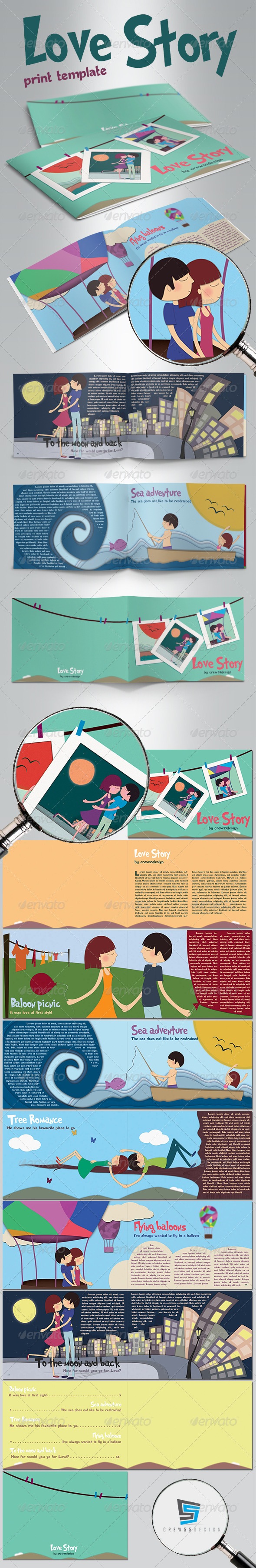 GraphicRiver Illustrated Love Story Template 4383880