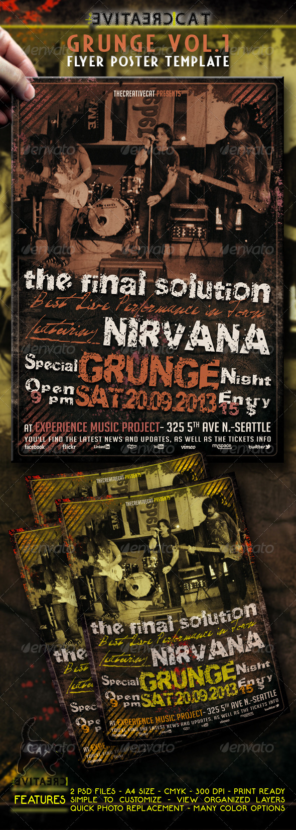 GraphicRiver GRUNGE FLYER POSTER 4486551