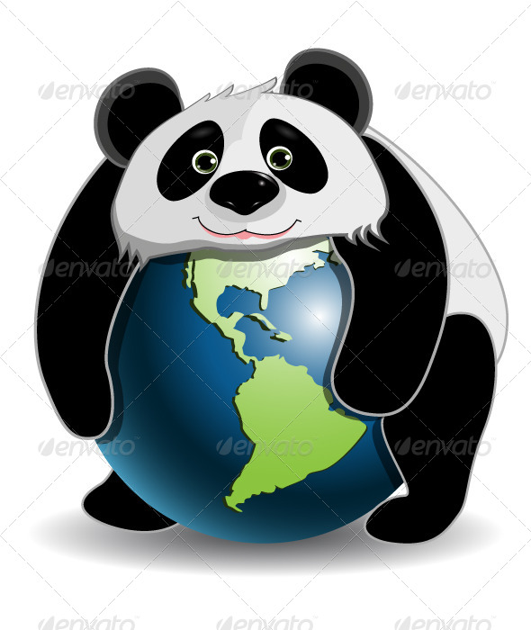 GraphicRiver Panda on the Globe 4486714