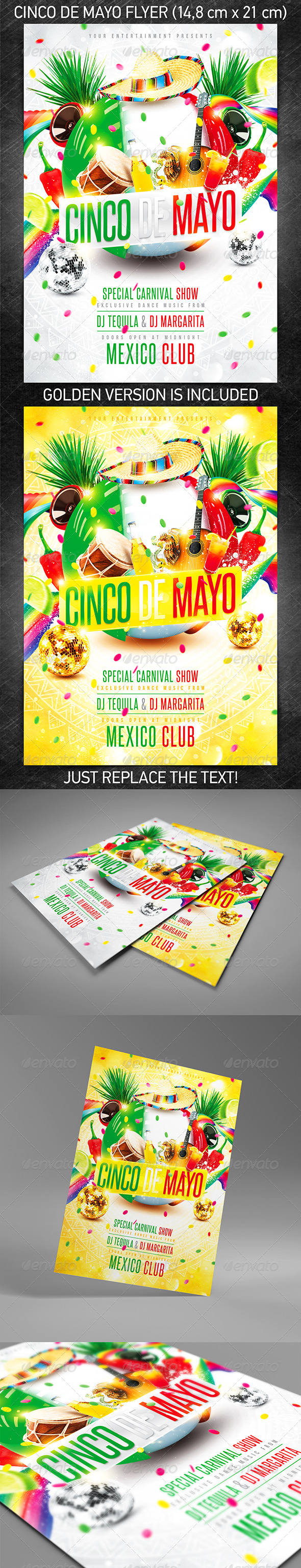 Cinco de Mayo Party Flyer - Holidays Events