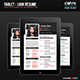 Tablet - Look Resume - GraphicRiver Item for Sale