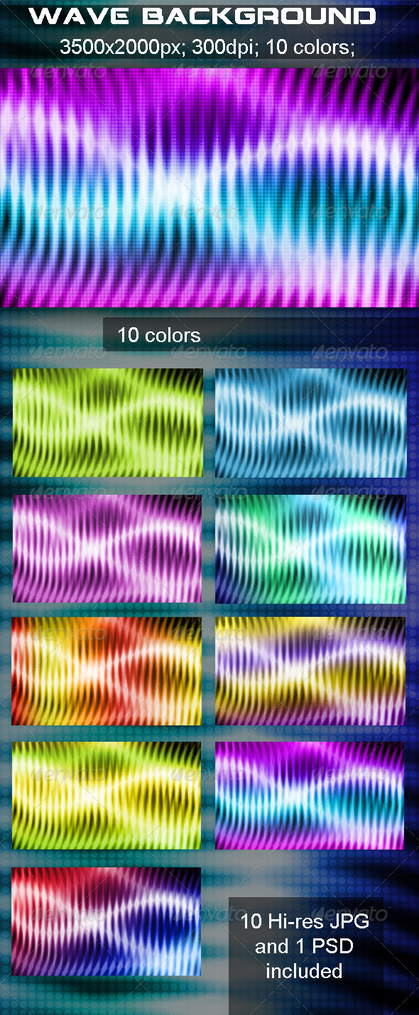 Wave Background - Abstract Backgrounds